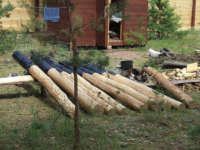 Столбы под деревянный забор