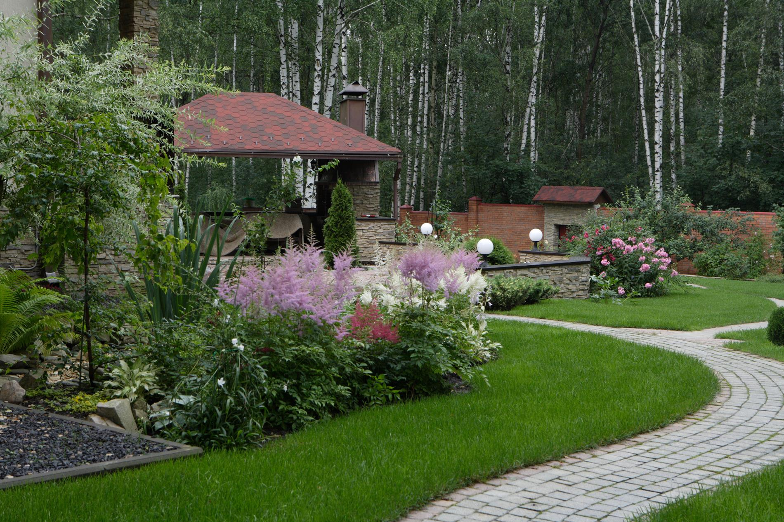 Фото ландшафтного дизайна в стиле прованс