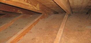Теплоизоляция деревянного дома: утепление потолка