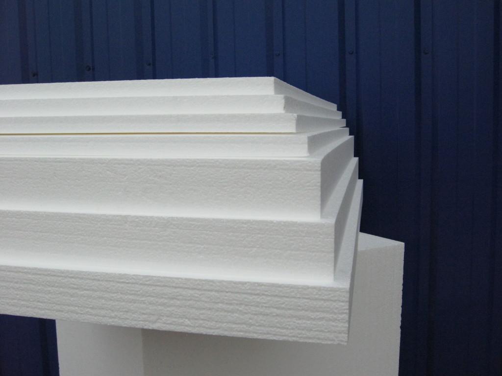пенопласт имеет разную толщину от 20мм до 100мм