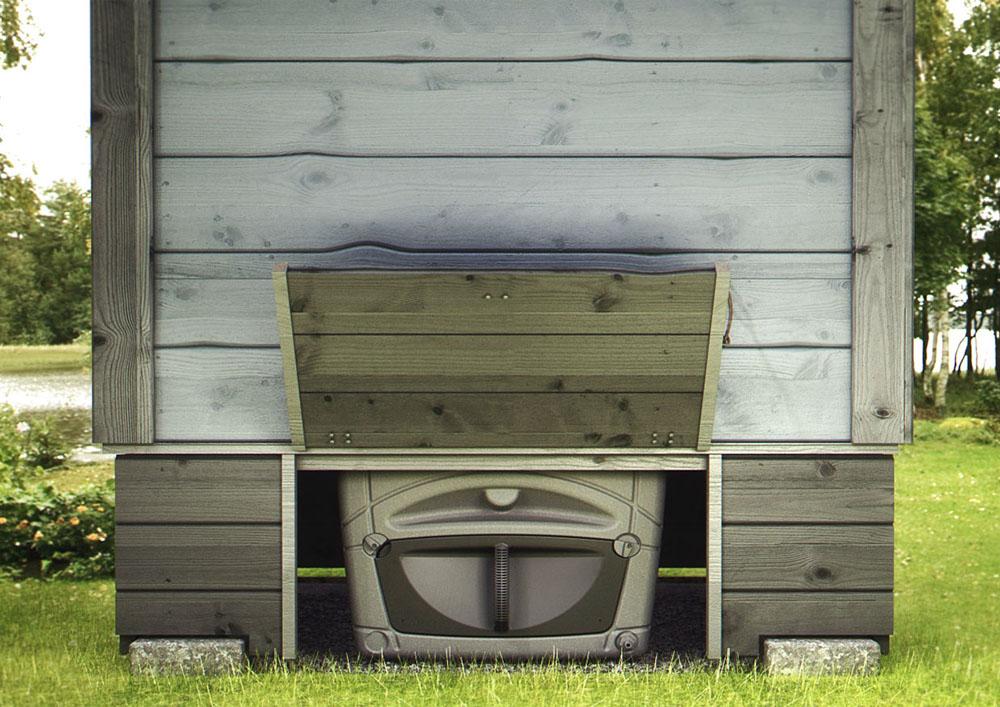 торфяной туалет - в нем нет выгребной ямы