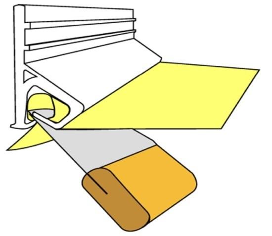 Кулачковое крепление натяжного потолка (клипса)