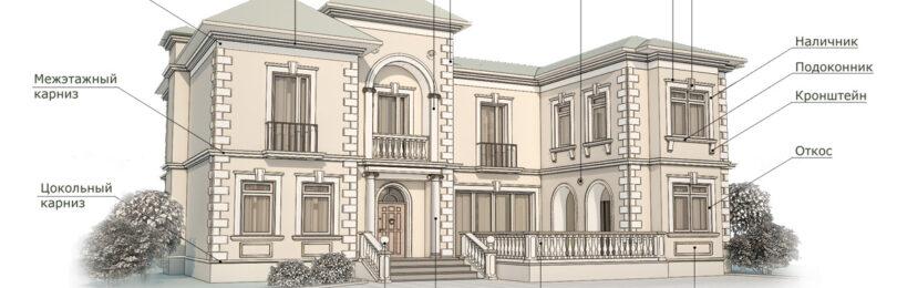 Элементы декора для фасада дома — разбираем виды
