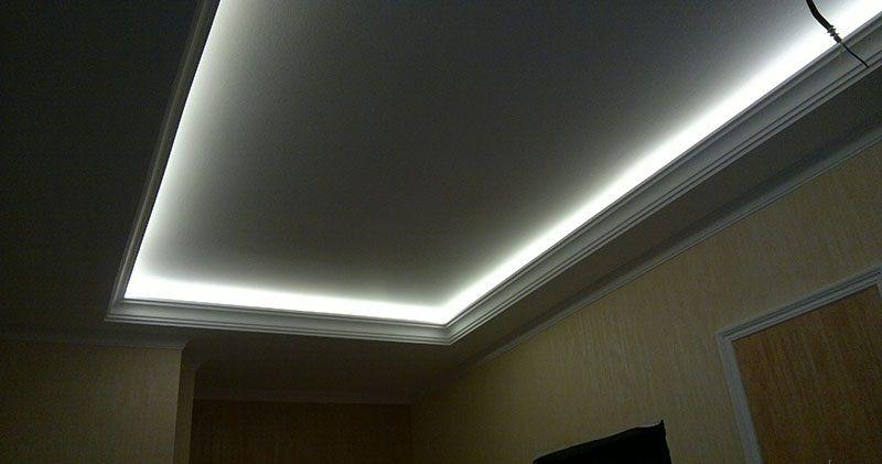 Диодное освещение потолка своими руками 58