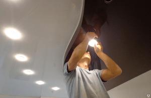 Чистка точечных светильников