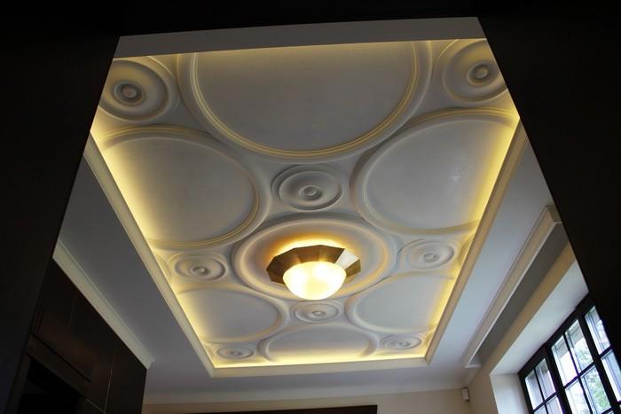 Дизайн потолков из гипса