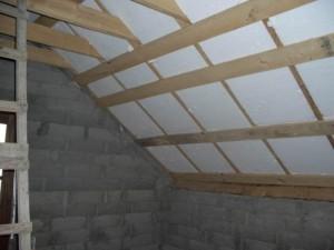 Каркас для утепления потолка пенопластом