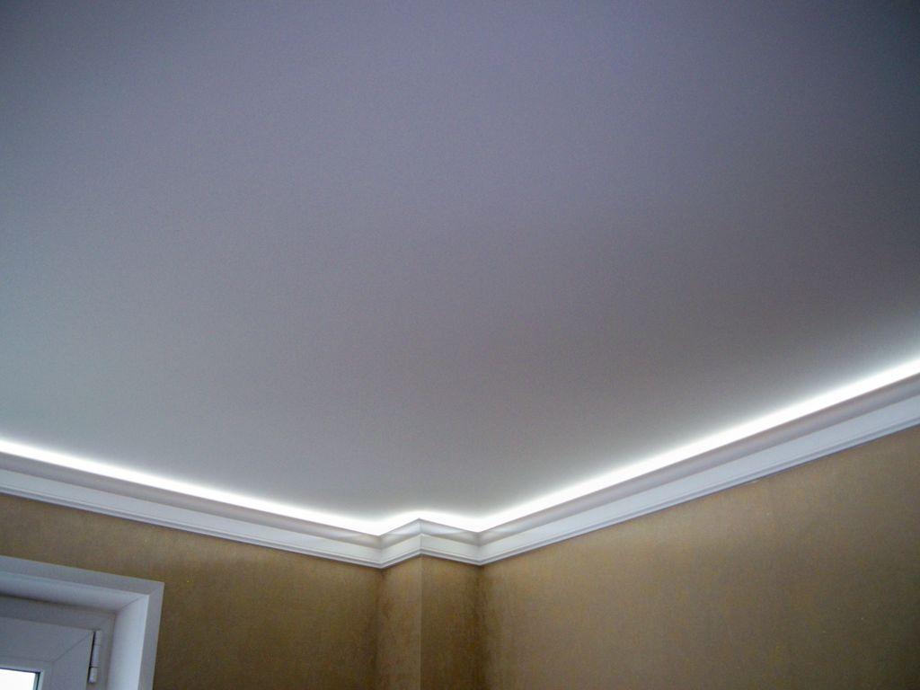 подвесной потолок белый матовый фото
