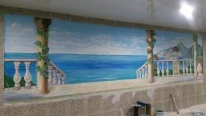Отделка стен фреской