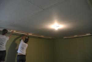 Разметка потолка для шумоизоляции