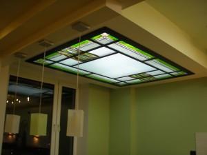 Стеклянный потолок над обеденной зоной