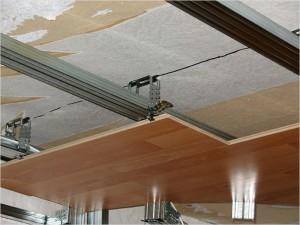 Установка ламината на потолок на каркас