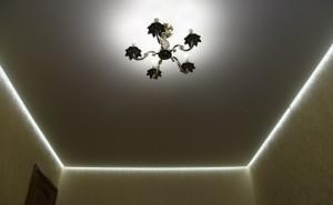 Подсветка парящего потолка по периметру