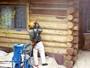 Покраска деревянных стен снаружи