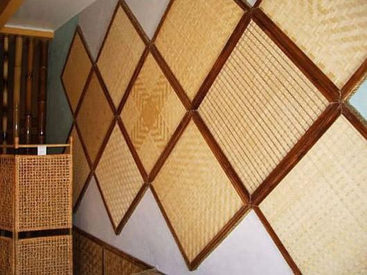 Потолочные и настенные панели из бамбука