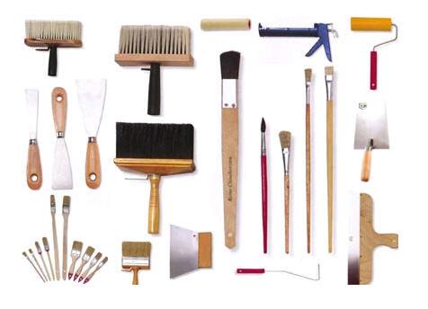 инструменты для работы с краской