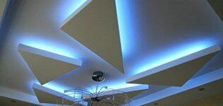 Стили оформления фигурных потолков из гипсокартона