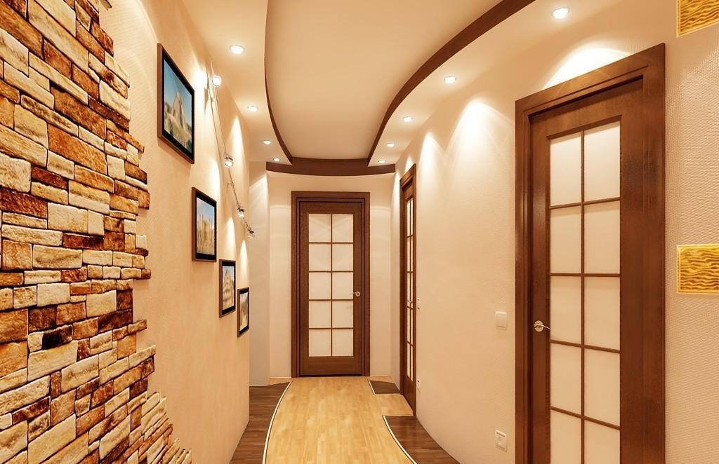 тканевый потолок - вариант отделки потолка в коридоре