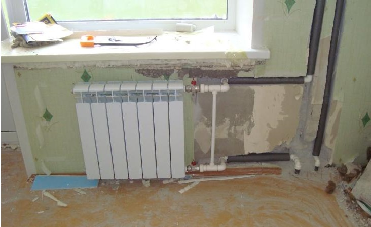ремонт комнаты с заменой батареи в хрящевке
