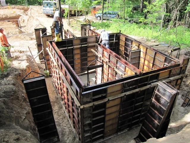 Этап 2 - формирование стен - выставление опалубки