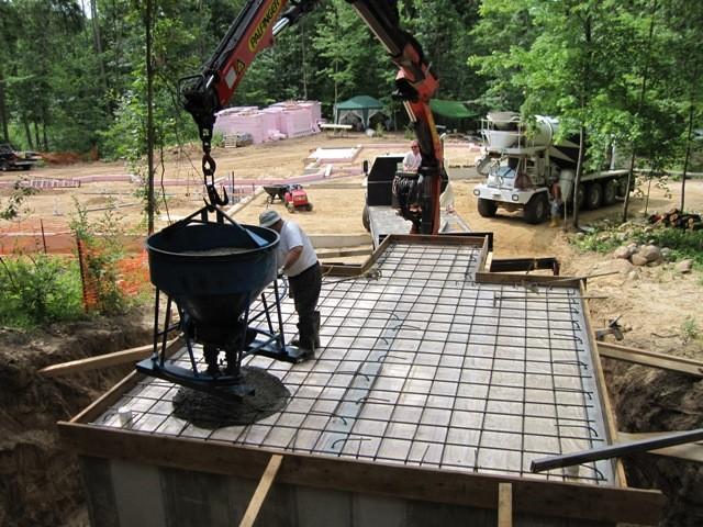 Этап 3 - заливка перекрытия бетоном