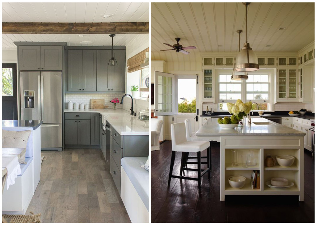 Кухня под потолок в деревянном доме