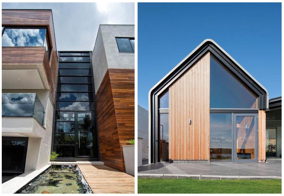 Стиль фасада дома модерн (modernism)