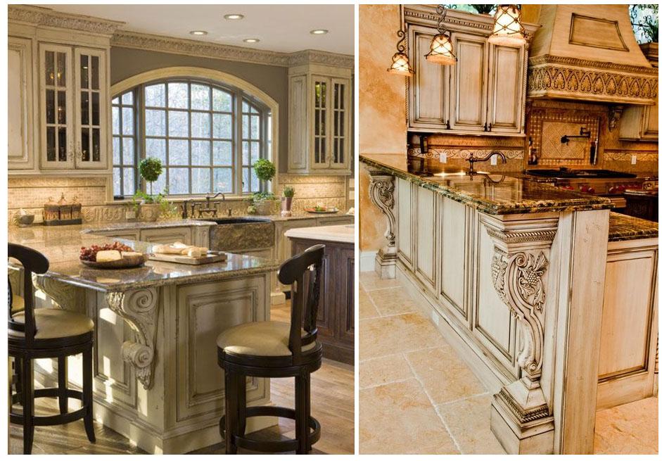 дизайн кухни под потолок в интерьере