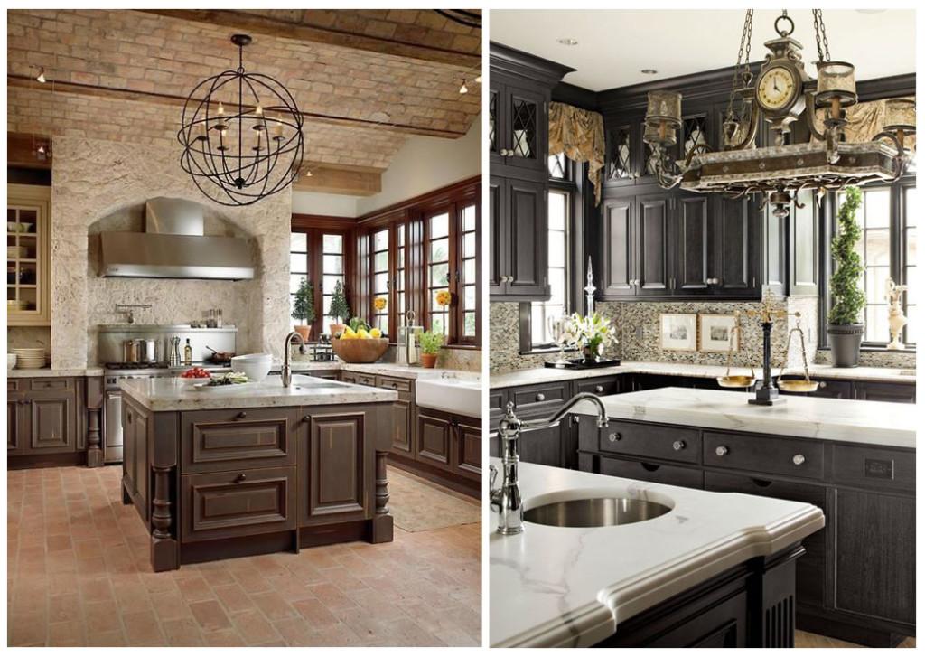 дизайнерские кухни со шкафами под потолок