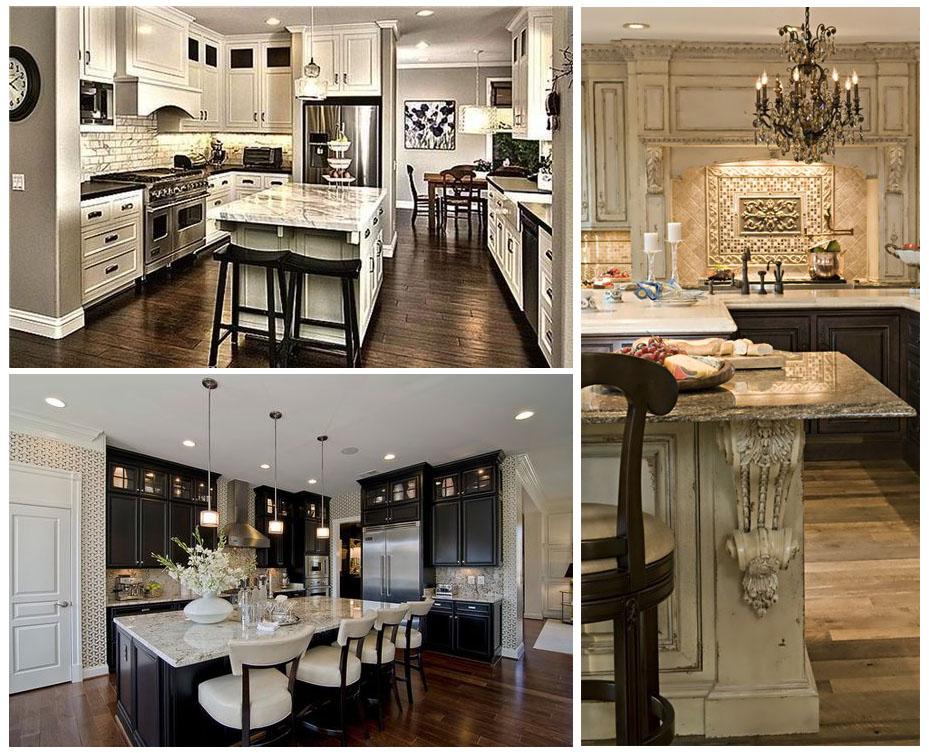 дизайнерские решения кухни с высокими шкафами