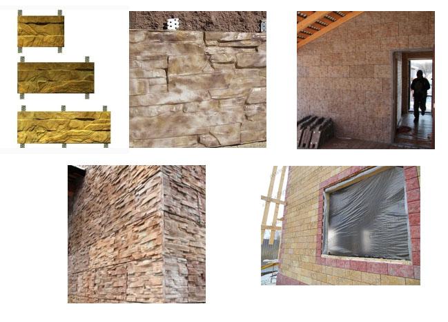 фасадные плитка-панель из бетонна