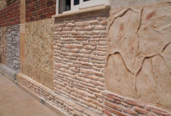 Рваная декоративная штукатурка на фасаде