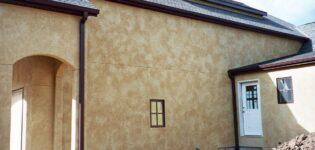 Отделка и виды фасадной штукатурки для дома
