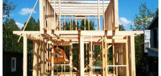 Два каркасных дома размером 6х6 м