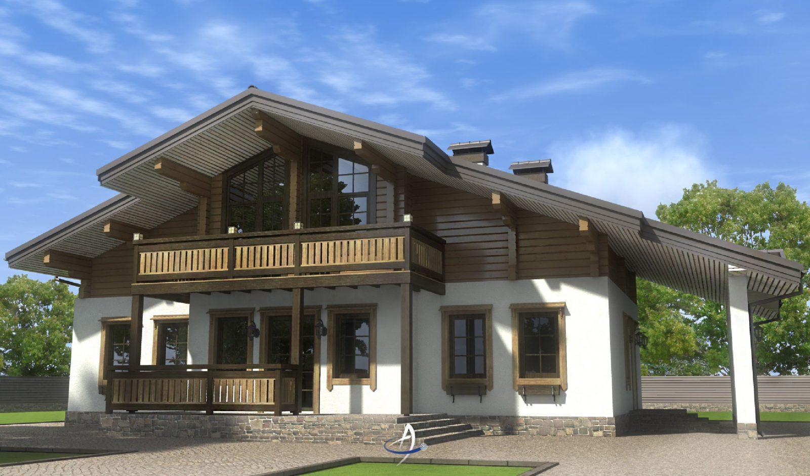 дом из комбинированных материалов