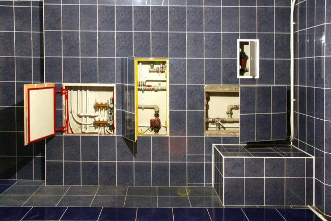 ревизионные люки в ванной комнате
