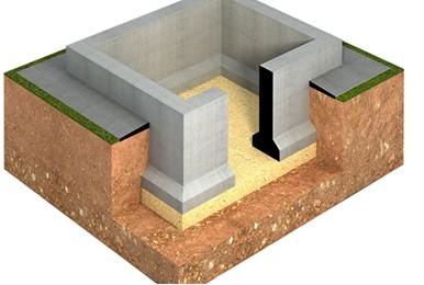 ленточный фундамент с подвалом