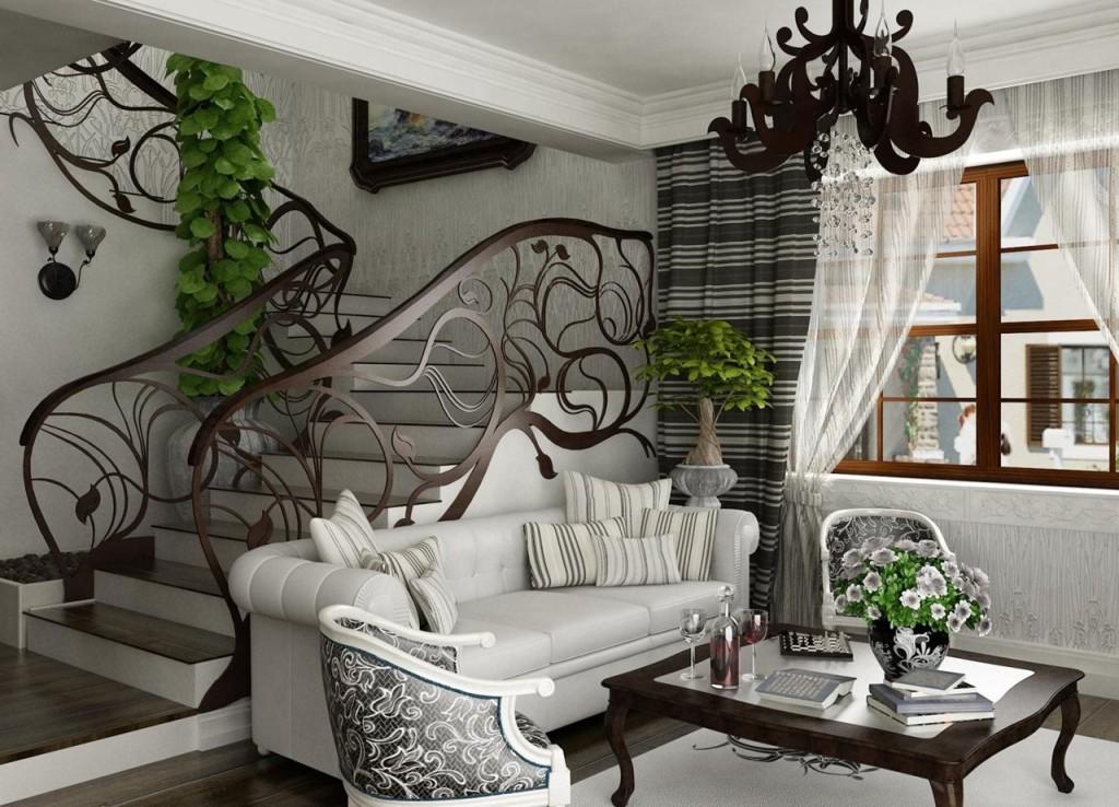применяем необычные элементы декора в стиле модерн