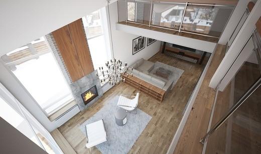 фото стиль лофт для большого дома