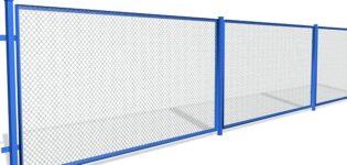 Забор из сетки рабицы: виды, характеристики, принцип установки