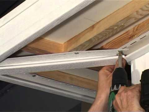 Монтаж софита - установка планки для стыка углов