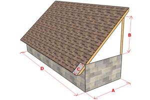 принцип построения односкатной крыши