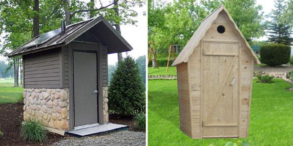 выгребной туалет - классика дачных туалетов