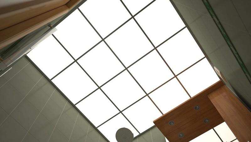 Белые светопрозрачные подвесные потолки- FINE LINE