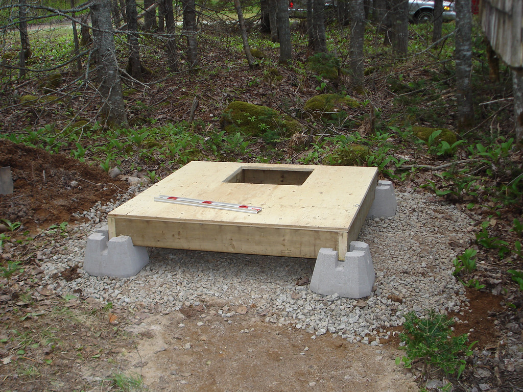 Фундамент под деревянный туалет