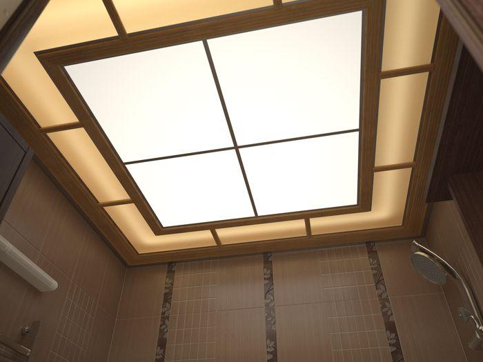 Светопропускающие потолки из оргстекла в ванной комнате