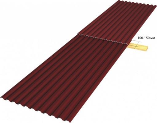 нахлёст стыковых листов при наклоне крыши более 30 градусов