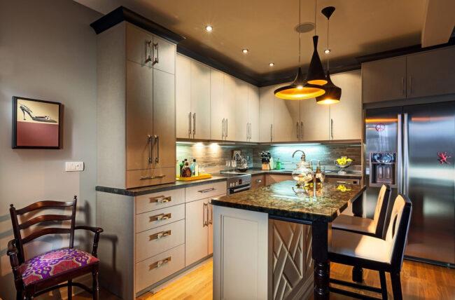 пример освещения кухни
