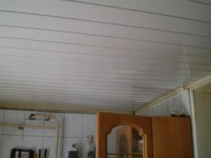 Белый панельный потолок