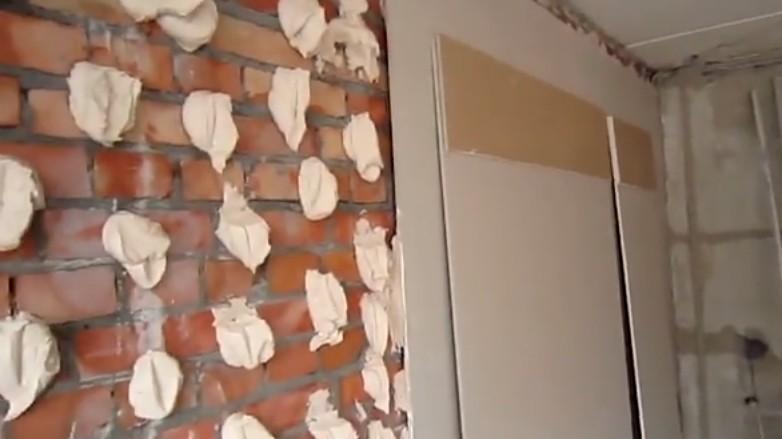 Крепление гипсокартона к стене на клей